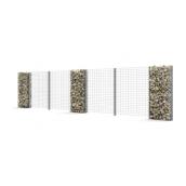 Секционное ограждение из габионов Vision Прогресс-10 с двойными решетчатыми панелями 169 см