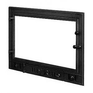 Дверка для каміна KAWMET W3 з прямим склом 700х540 мм