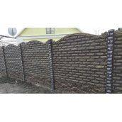 Забор двухсторонний Vivat Фагот 196х50 см серый
