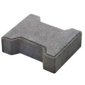 Тротуарная плитка Vivat Двойное-Т 8 см серая