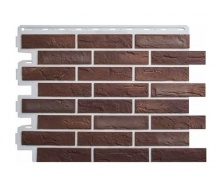 Фасадная панель Альта-Профиль Кирпич Рижский 795х591х20 мм цвет 01