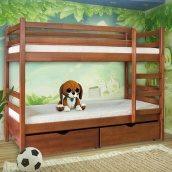 Двох'ярусне ліжко Меблі-Сервіс Кенгуру 1600х2000х800 мм яблуня