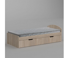 Кровать Компанит 90+2 944х650х2042 мм дуб сонома