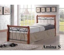 Кровать ONDER MEBLI Amina S 900х1900 мм черный/вишня