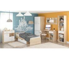 Детская спальня Мебель-Сервис Типс дуб самоа/белый матовый