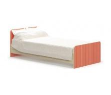 Дитяче ліжко Меблі-Сервіс Сімба 900 950х670х2032 мм береза/червоне