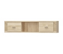 Полиця навісна Мебель-Сервіс Гресс 2Д 1392х300х253 мм дуб самоа