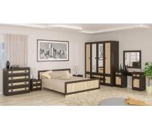 Спальня Мебель-Сервис Даллас венге темный/дуб самоа
