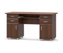 Письмовий стіл Меблі-Сервіс 2-тумбовий МДФ 695х1385х635 мм горіх