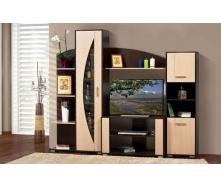Стенка для гостиной Мир мебели Мадера 227x187x46 см венге/лимба