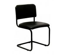 Офісний стілець АМF Сільвія Кожзам чорний 570х470х870 мм чорний