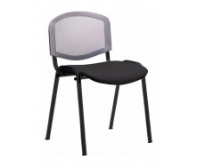 Офісний стілець АМF Ізо Веб сітка сіра 535х560х840 мм чорний