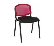 Офісний стілець АМF Призма Веб сидіння Сітка чорна / спинка Сітка червона 540х635х825 мм чорний
