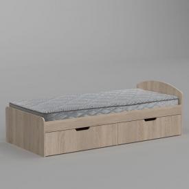 Ліжко Компанит 90+2 944х650х2042 мм дуб сонома