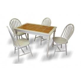 Обеденный стол ONDER MEBLI СТ 3045 беленый дуб
