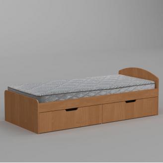 Кровать Компанит 90+2 944х650х2042 мм ольха