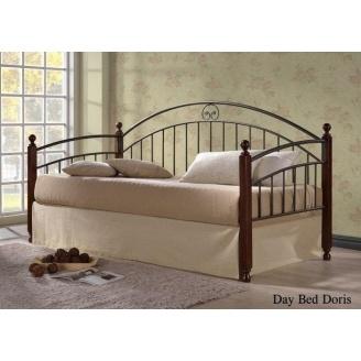 Кровать ONDER MEBLI Day Bed Doris 900х2000 мм античное золото/орех
