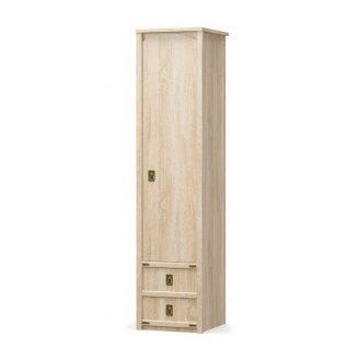 Пенал Мебель-Сервис Валенсия 1Д2Ш 2086х500х530 мм самоа