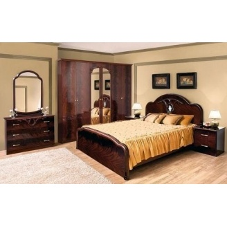 Спальня Мир мебели Лаура 6Д махонь лак