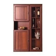 Витрина с шкафом для белья БМФ Виктор №4 900х1486х315 мм орех Италия