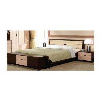 Кровать Мастер Форм Доминика 2050х1650х950 мм венге/дуб молочный