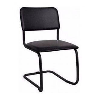 Офісний стілець АМF Квест Кожзам чорний 570х470х810 мм чорний