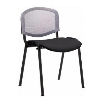Офисный стул АМF Изо Веб сетка серая 535х560х840 мм черный