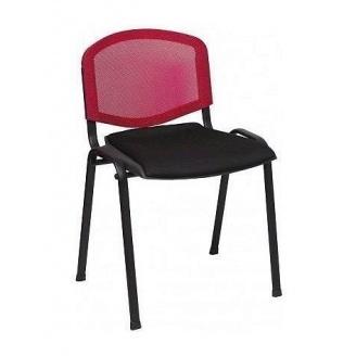 Офисный стул АМF Призма Веб сиденье Сетка черная/спинка Сетка красная 540х635х825 мм черный
