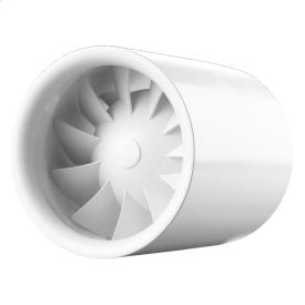 Вентилятор ВЕНТС Квайтлайн 150 Т Дуо осьовий канальний з таймером 335 м3/ч 150 мм білий