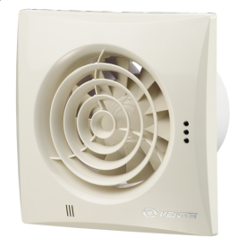 Вентилятор ВЕНТС Квайт 100 винтаж энергосберегающий осевой 97 м3/ч 158х158 мм бежевый