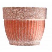 Бетонный цветник МикаБет Газдыня №1 с мраморной крошкой 50х50 см красный