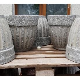Бетонная ваза МикаБет Газдыня №2 с мраморной крошкой 37х41 см красный