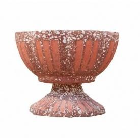 Бетонный цветник МикаБет Ромашка №1 с мраморной крошкой 30х43 см красный
