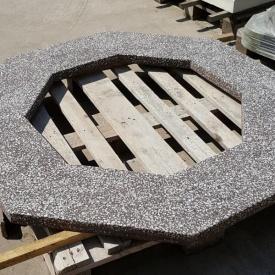Бетонная плита на колодец МикаБет с мраморной крошкой 126х126 см коричневый
