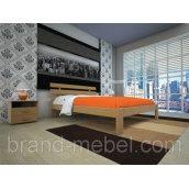 Деревянная кровать ТИС Домино 1 дуб 160х200