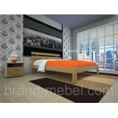 Деревянная кровать ТИС Домино 1 дуб 90х200
