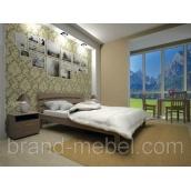 Деревянная кровать ТИС Домино 3 дуб 90х200