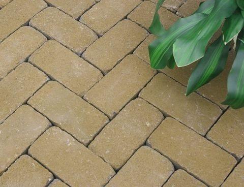 -5% на тротуарну плитку Золотий Мандарин Цегла Антик 200х100х60 мм в гірчичному кольорі