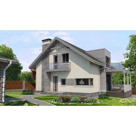 Проект двоповерхового будинку М2-129 170 м2