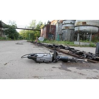 Демонтаж асфальтового покрытия екскаватором-навантажувачем JCB 3 CX