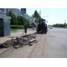 Демонтаж дорожніх бордюрів екскаватором-навантажувачем JCB 3 CX