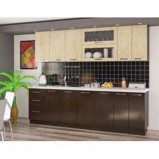 Кухня Мебель-Сервис Гамма 2 м венге\глянец