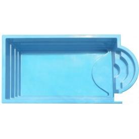 Стекловолоконный бассейн Гольф 5,65x2,8x1,5 м