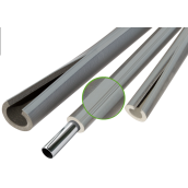 Теплоізоляція для труб із спіненого поліетилену Thermaflex Eco Line R red 6 мм ДУ 28 мм 10 м