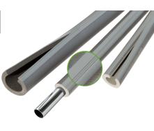 Теплоизоляция для труб из вспененого полиэтилена Thermaflex Eco Line G grey 9 мм ДУ 42 мм