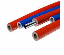 Теплоизоляция для труб из вспененого полиэтилена Thermaflex S красная и синяя 6 мм ДУ 15 мм 2 м