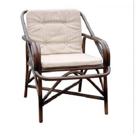 Плетенное кресло для отдых -№1 из ротанга ЧФЛИ 680х730х910 мм коньяк
