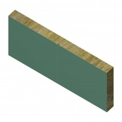 Сэндвич-панель ТПК стеновая МВ термо замок 240х1180 мм