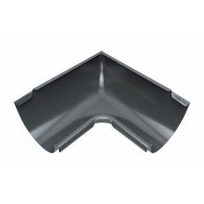Внутрішній кут жолоба Акведук Преміум 90 градусів 150 мм графітовий RAL 7011