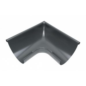 Зовнішній кут жолоба Акведук Преміум 90 градусів 150 мм графітовий RAL 7011